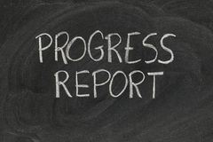 Progress report Stock Photography