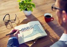 Progress Report Analytics Strategy Concept royalty free stock photos
