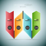 Progress Ribbon Infographic Royalty Free Stock Image