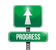Progress road sign illustration design Royalty Free Stock Images