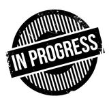 In progress rubber stamp Royalty Free Stock Images