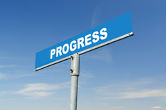 Progress signpost Royalty Free Stock Images