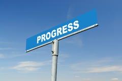 Progress signpost Royalty Free Stock Images