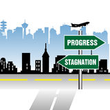 Progress stagnation indicator Royalty Free Stock Photography