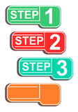 Progress step banners. Stock Image