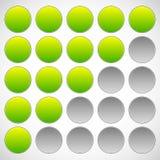 Progress, step, phase indicators. Simple 5-step progress bars. Royalty free vector illustration Royalty Free Stock Photography