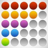 Progress, step, phase indicators. Simple 5-step progress bars. Royalty free vector illustration Stock Image