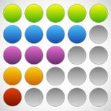 Progress, step, phase indicators. Simple 5-step progress bars. Royalty free vector illustration Royalty Free Stock Photos