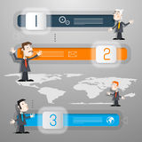 Progress Steps for Tutorial, Infographics Royalty Free Stock Photo