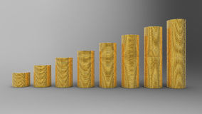Progress or success: golden coins stacks Stock Photo