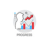 Progress Successful Financial Growth Icon. Vector Illustration Royalty Free Stock Photography