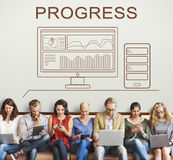 Progress Summary Analytics Computer Concept Royalty Free Stock Photo