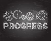 Progress Blackboard Stock Photo