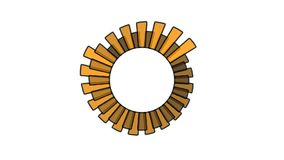 Progress wheel - increasing size and color, 2 spinning wheels overlapping, seamless looping Stock Images