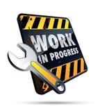 progressarbete Arkivfoton