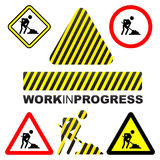 progressarbete stock illustrationer