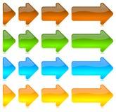 Progressieve gekleurde pijlenpictogrammen royalty-vrije illustratie