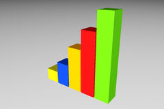 Progressiv graf Arkivfoton