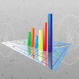 Progressive Bar chart. Abstract vector Stock Photo