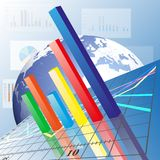 Progressive Bar chart. Abstract vector Royalty Free Stock Images