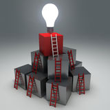Progresso abstrato do negócio, desenvolvimento, sucesso Fotografia de Stock Royalty Free