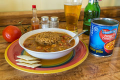 Progresso Creole Style Chicken Gumbo Stock Photography