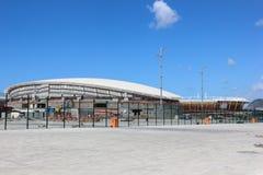 Progresso da construção do parque olímpico do Rio 2016 Fotos de Stock