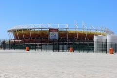 Progresso da construção do parque olímpico do Rio 2016 Imagem de Stock
