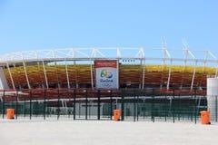 Progresso da construção do parque olímpico do Rio 2016 Foto de Stock
