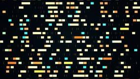 Progresso da mineração de dados, vídeo 4k ilustração stock