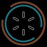 Progresso de carregamento do vetor - símbolo gráfico de computador isolado ilustração do vetor