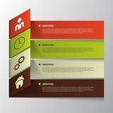 Progresso della carta di vettore Modello di Infographic Fotografie Stock