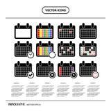 Progresso di evento dell'icona del calendario di vettore Immagine Stock