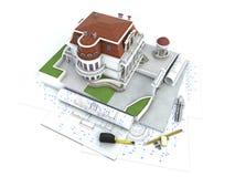 Progresso do projeto da casa Imagem de Stock