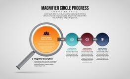Progresso Infographic del cerchio della lente Immagine Stock Libera da Diritti