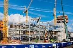 Progresso no canteiro de obras em Cardiff Imagens de Stock