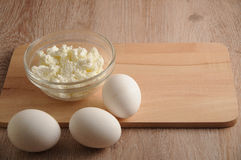 Progucts и яичка молока Стоковые Фото