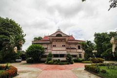 Prohíba la casa histórica de Wongburi en Phrae, Tailandia foto de archivo