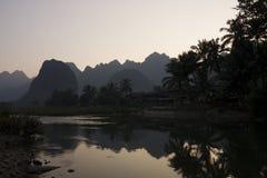 Prohíba Phatang, Nam Song River y el bosque, Lao People Democratic Republic Imagen de archivo libre de regalías