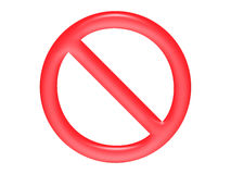 Prohibición Foto de archivo libre de regalías