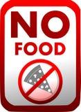 Prohibición de la introducción de comida en rojo aislada ilustración del vector