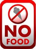 Prohibición de la introducción de comida en rojo aislada stock de ilustración