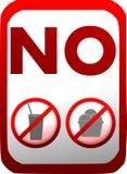 Prohibición de la introducción de comida o de bebidas en rojo aisladas stock de ilustración
