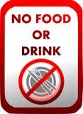 Prohibición de la introducción de comida y de bebidas en rojo aisladas libre illustration