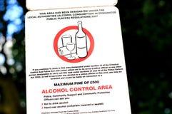 Prohibición del alcohol Foto de archivo