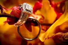 Prohibición del anillo de compromiso y de la boda foto de archivo libre de regalías