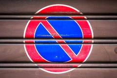 Prohibición del estacionamiento Imagen de archivo libre de regalías