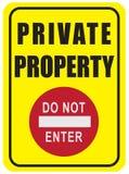 Prohibición del viaje a la propiedad privada Imagen de archivo libre de regalías