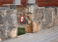 Prohibición en la entrada al patio privado Fotografía de archivo