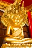 Prohibición-guarida del wat de la estatua de Buda, chiangmai, Tailandia Imagen de archivo